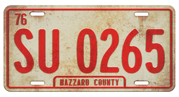 SU 0265 License Plate (Cooter's Tow Truck)