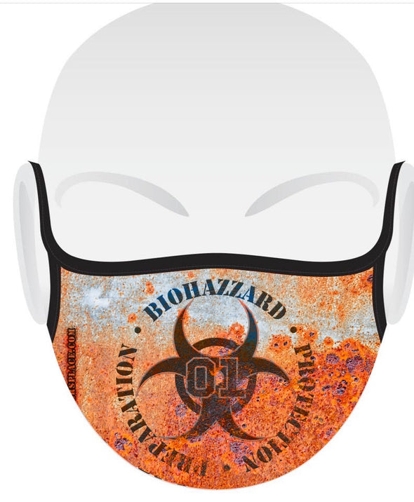 BioHazzard 3-Layer Face Mask (washable facemask) Made in USA