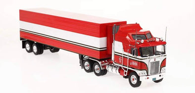 "OCTOBER/NOV PRE-ORDERS 1:43 Kenworth K100E w/Reefer Trailer ""B.J. McKay - BJ and the Bear"" (Red)"