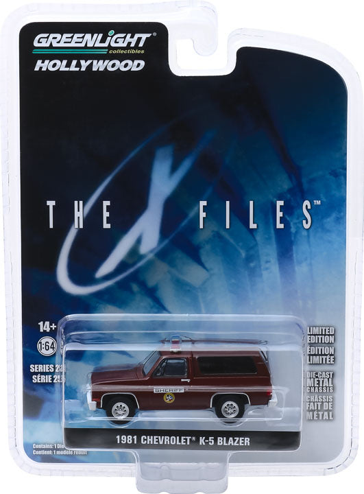 1:64 Hollywood Series 25 - The X-Files (1993-2002 TV Series) - 1981 Chevrolet K-5 Blazer Sheriff Solid Pack
