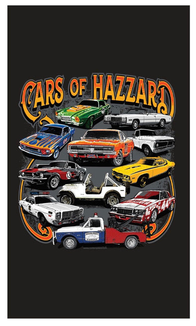 Cars of Hazzard Beach Towel