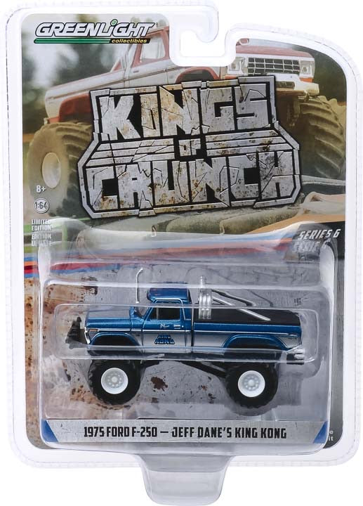 1:64 Kings of Crunch Series 6 - King Kong - 1975 Ford F-250 (Original Blue) Monster Truck Solid Pack