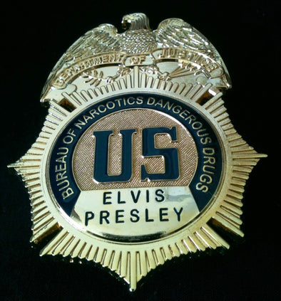"Elvis Presley ""DEA"" Badge Presented To him by President Nixon"