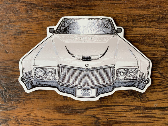 Die Cut Magnet Boss Hogg Caddy