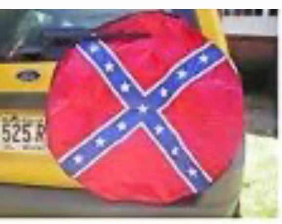 Confederate Flag Spare Tire Cover