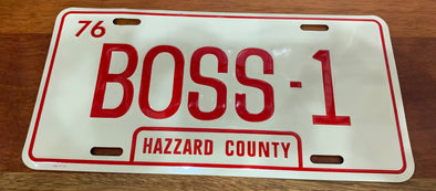 BOSS-1 License Plate (Boss Hogg's Caddy)