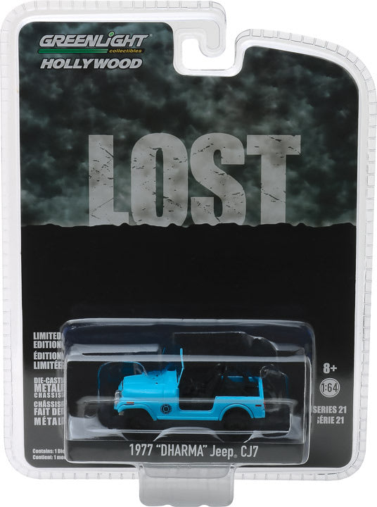 "1:64 Hollywood Series 21 - Lost (2004-10 TV Series) - 1977 Jeep CJ-7 ""Dharma"" Jeep Solid Pack"