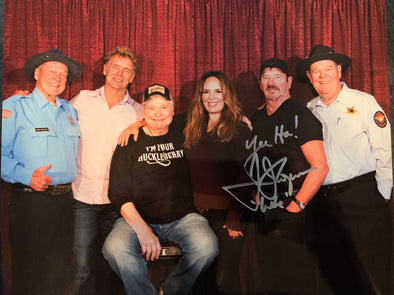 "Autographed By Tom Wopat aka ""Luke Duke"" 40th Anniversary Cast Photo (8x10)"