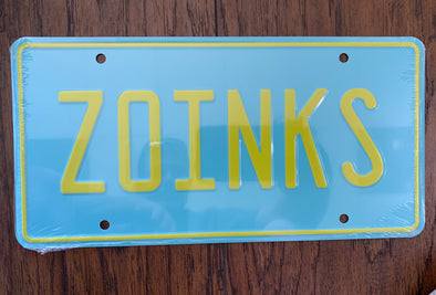 Zoinks License Plate