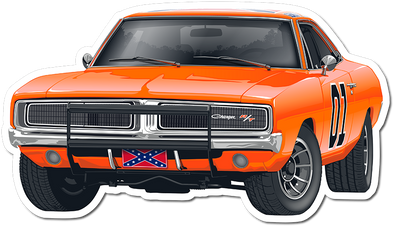 Die Cut Magnet General Lee w/Grill