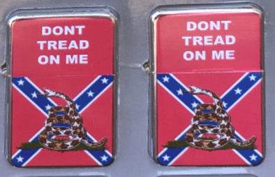 CONFEDERATE FLAG LIGHTER (Rebel/Don't Tread on Me)
