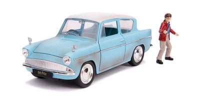 1:24 Hollywood Rides - Harry Potter - 1959 Ford Anglia w/Harry Potter Figure