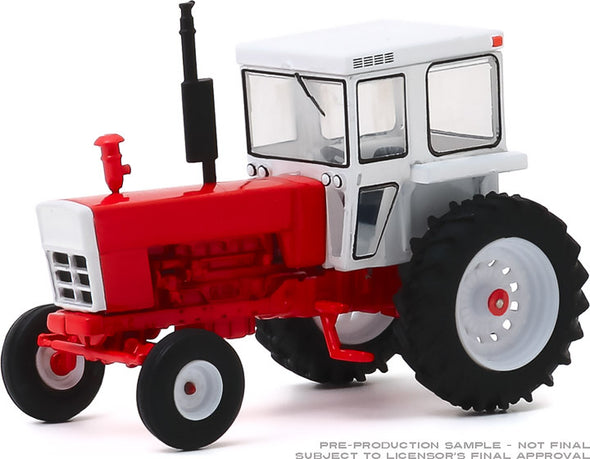 1:64 Down on the Farm Series 4 - 1973 Tractor with Closed Cab - Red and White Solid Pack