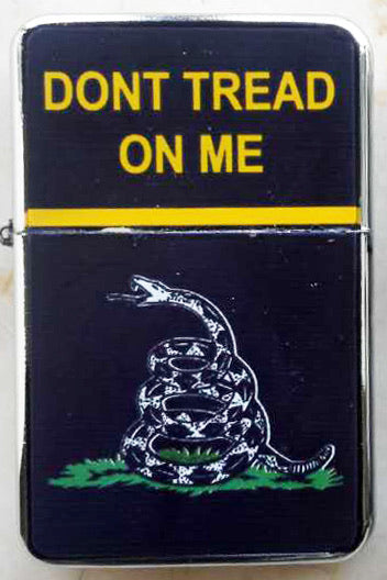 "LIGHTER ""DON'T TREAD ON ME"" (BLACK)"