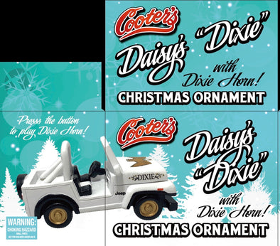 PRE-ORDER ONLY (December Delivery Expected/Not Guaranteed) Daisy's Dixie Christmas Ornament W/Dixie Horn