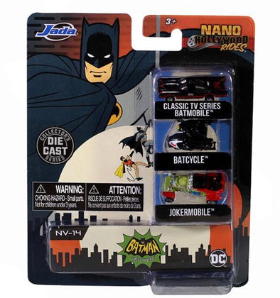 "Nano Hollywood Rides - 1.65"" 1966 TV Series Batman (3-Pack"
