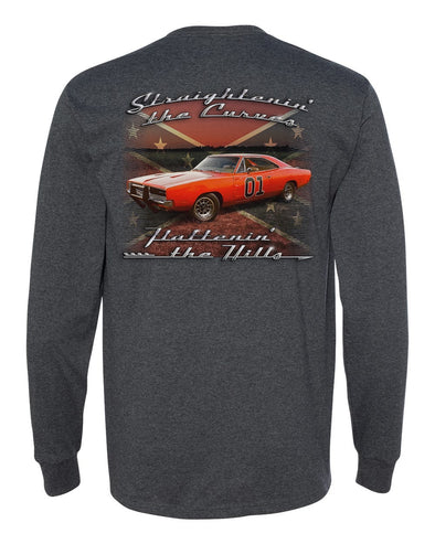 Cooter's Straightnin' The Curves Long Sleeve Tee