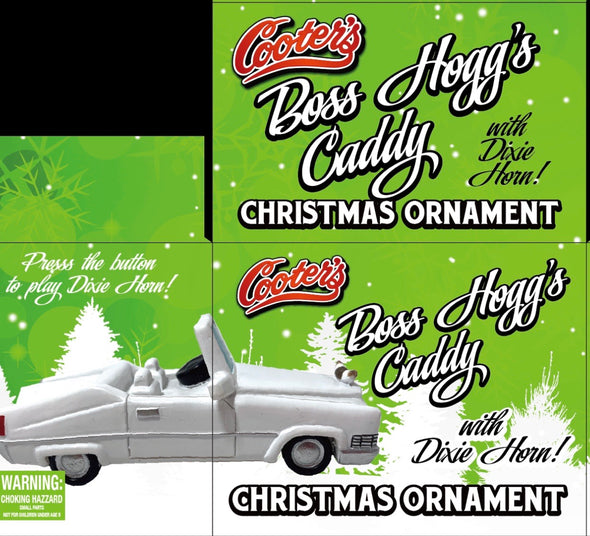 PRE-ORDER ONLY (December Delivery Expected/Not Guaranteed) Boss's Caddy Christmas Ornament W/Dixie Horn