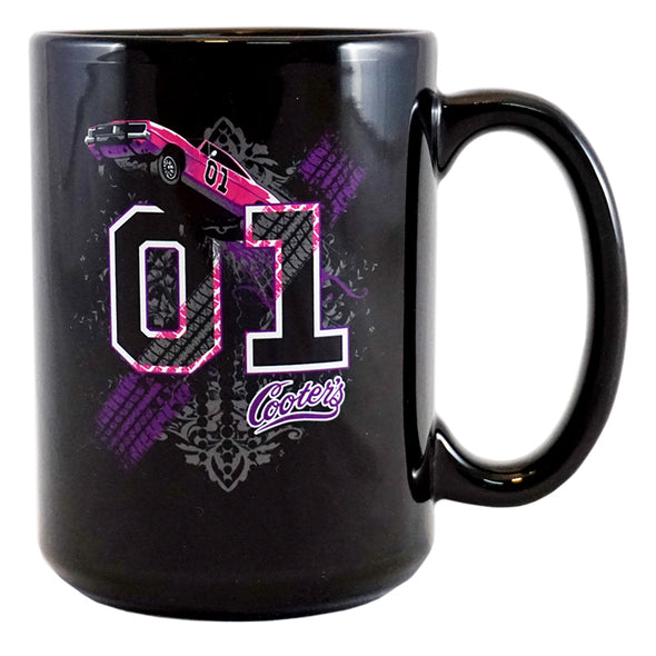 Cooter's Keep it Between the Ditches Coffee Cup (Black/Pink)