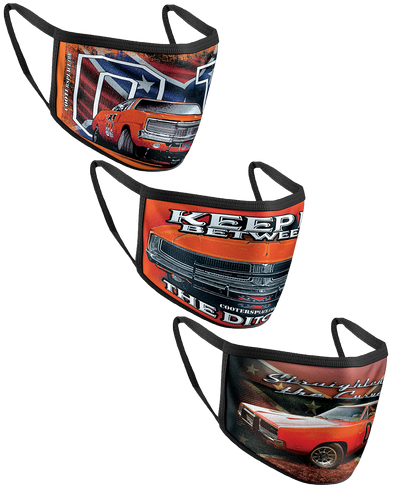 Face Cover Collection - Ditches GRIlL, General Lee W/Flag & Straightin Curves (Made in 🇺🇸