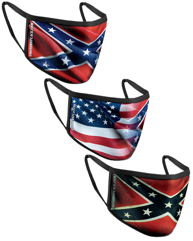 Face Cover Collection Wavy Flag, Vintage Flag & Blended Flag (Made in 🇺🇸
