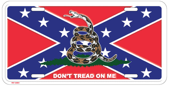 Gadsden With Confederate Flag License Plate