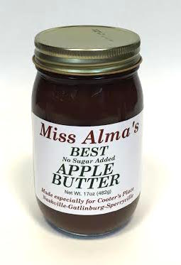 Sauces Mrs Alma Apple Butter (No Sugar Added)