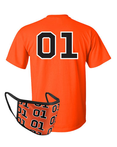 Face Cover & Tee COMBO Orange 01 T-Shirt