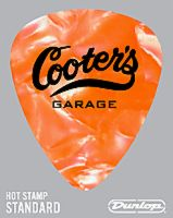 Guitar Pick Orange Pearl Garage