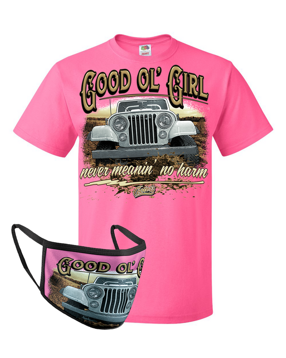Face Cover & Tee COMBO Good Ol' Girl Dixie T-Shirt