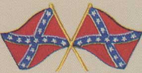 Crossed Confederate Flags Patch