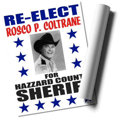 Re-Elect Rosco Poster Print (22x17)