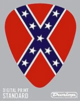 Guitar Pick Confederate Flag