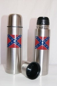 CONFEDERATE FLAG VACUUM FLASK