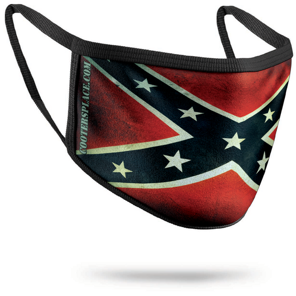 Confederate Flag Vintage (#1) 3-Layer Face Mask (washable facemask) Made in USA