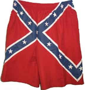Confederate Flag Swim Trunks