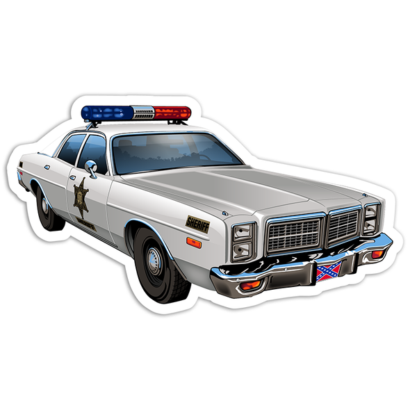 Sticker Die Cut Hazzard County Patrol Car