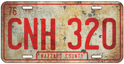 Rustic CNH 320 License Plate (General Lee Plate)
