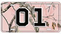 Pink RealTree Camo 01 License Plate