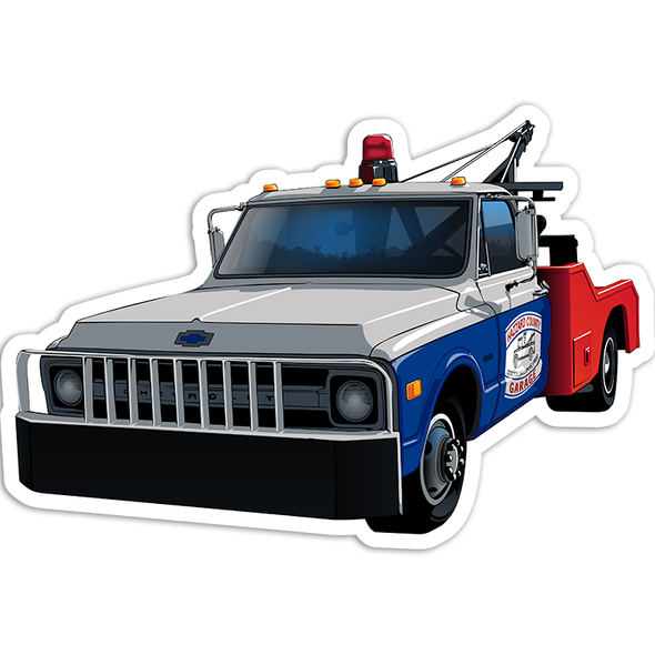 Sticker Die Cut Cooter's Tow Truck