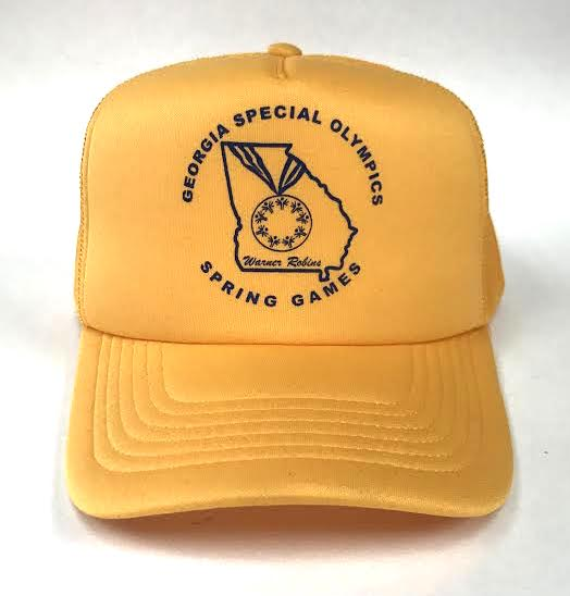 Autographed Special Olympics Yellow Trucker Hat