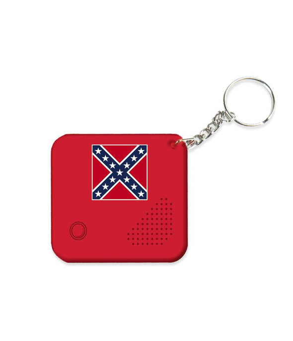 Musical Keychain W/Dixie Horn Confederate Flag