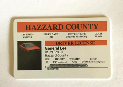 """General Lee"" Novelty Driver License"
