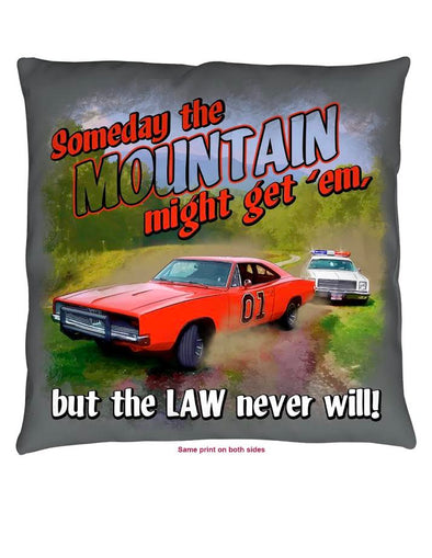 "Throw Pillow Cooter's ""Mountain Might Get'em"""