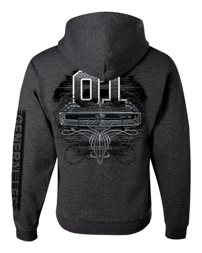 Cooter's General Lee Tattoo Hooded Pullover Sweatshirt