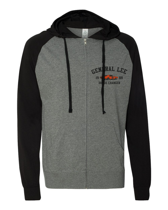 69 General Lee Lightweight Zipper Hoodie