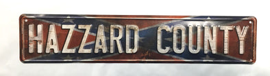Confederate Flag Hazzard County Street Sign (5 X 24)