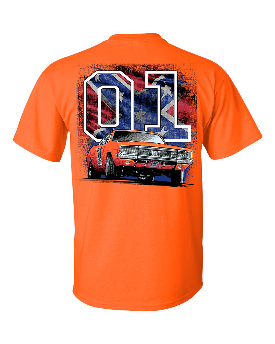 Cooter S General Lee W Rebel Flag 01 T Shirt Cootersplace