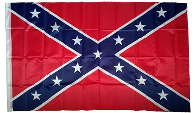 (MADE IN USA) - CONFEDERATE  3'X5' Flag POLYESTER
