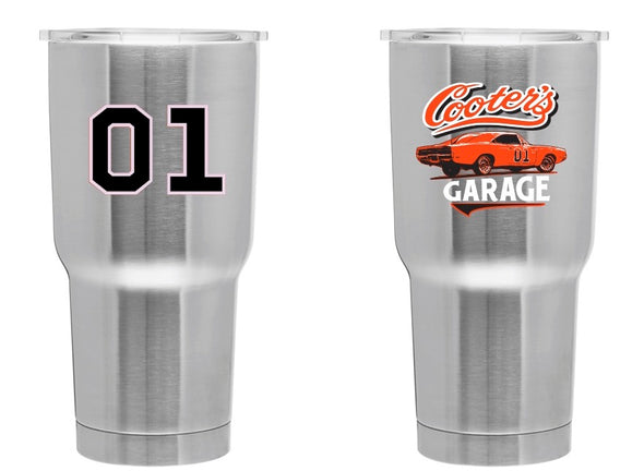 Cooter's Garage General Lee Double Insulated Tumbler 30oz
